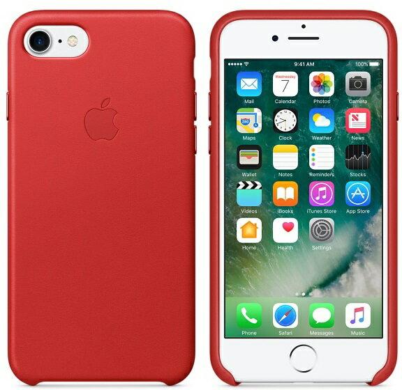 APPLE iPhone 7 PLUS 原廠皮革護套 5.5吋 手機套 紅色