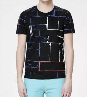 FINDSENSEMD韓國男街頭時尚潮特色紋理圖案字母印花短袖T恤特色T恤圖案T