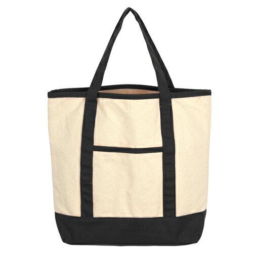 [客製化] 37.5*30*8cm 經典款帆布袋 雙色購物袋 (LOGO網版印刷) S1-01024