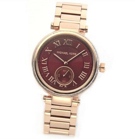 美國Outlet正品代購 MichaelKors MK 復古羅馬鑲鑽紅  陶瓷  三環 手錶 腕錶 MK6086 3