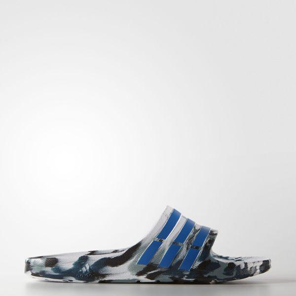 ADIDAS DURAMO SLIDE 拖鞋 運動 男鞋 女鞋 白 藍 綠 潑墨 輕量 防水 AQ5256 【運動世界】