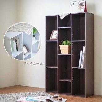 生活大發現-H-胡桃木色簡易三排書櫃/收納櫃/收納櫃 書架/收納/台灣製造
