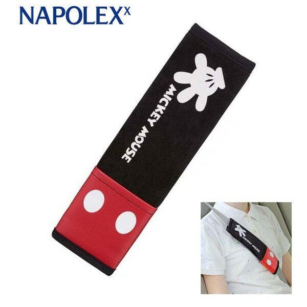 【真愛日本】17092000016 車用安全帶套-MK紅褲黑 迪士尼 米老鼠 米奇 米妮 安全帶套 汽車用品
