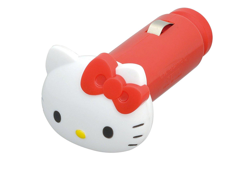 X射線【C864476】Hello Kitty 車用USB充電器,充電器/車用充電器/3C/USB車充/手機車充