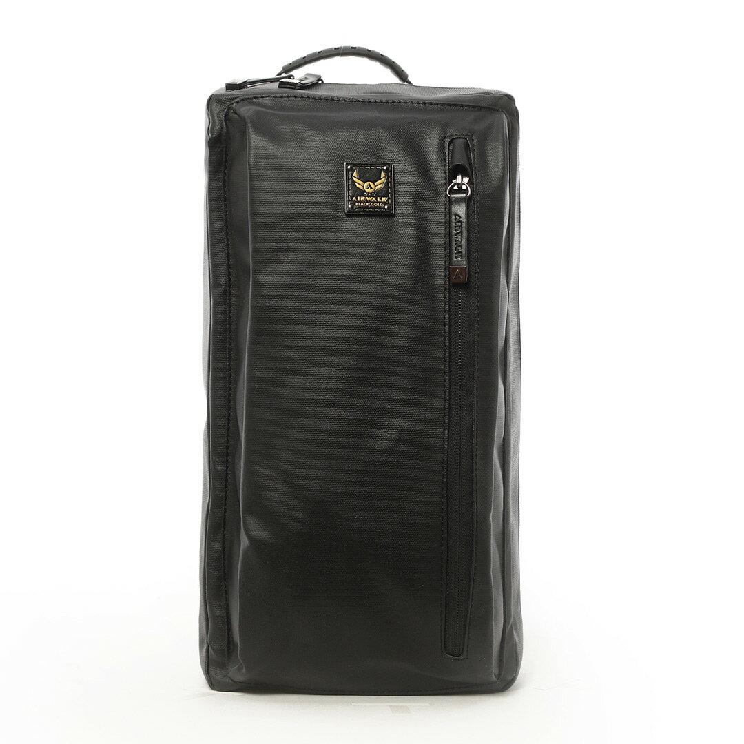 AIRWALK黑金系列-韓版學院側背包《黑》