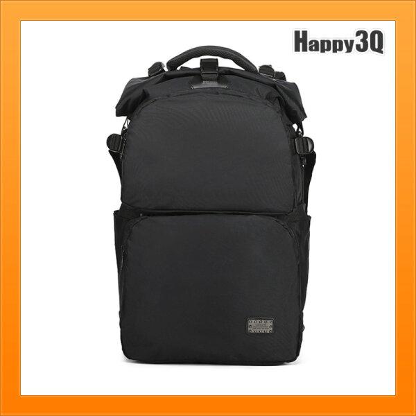 多功能筆電包出差USB背包防潑水後背包雙肩包大容量鞋子收納-黑灰藍棕【AAA5131】