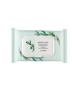 【即期良品】韓國 the SAEM MARSEILLE 橄欖深層卸妝濕巾-40ea MARSEILLE OLIVE Deep Cleansinging Tissue【辰湘國際】