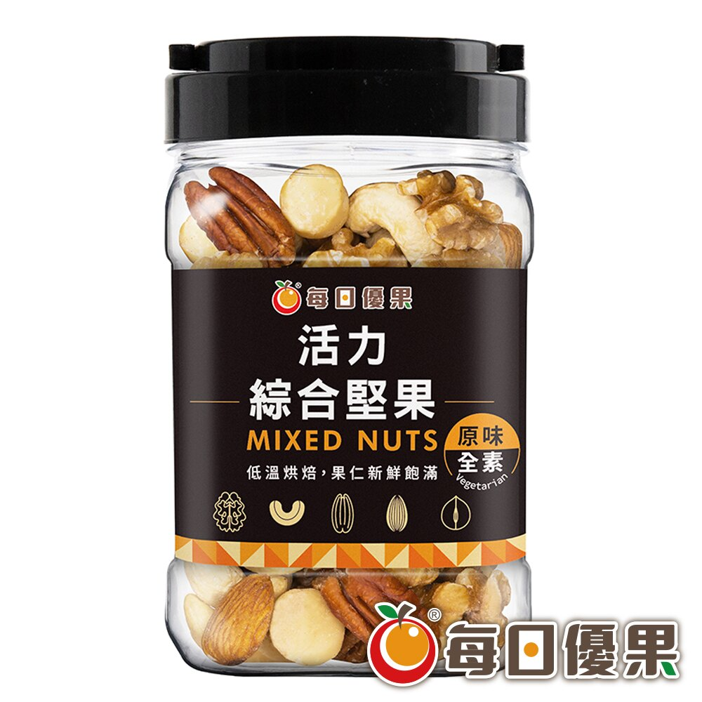 罐裝活力綜合堅果350公克【每日優果】 0