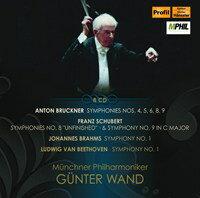PROFIL 汪德/布魯克納:第4、5、6、8、9號交響曲/舒伯特:第8、9號交響曲/布拉姆斯:第1號交響曲/貝多芬:第1號交響曲【8CDs】