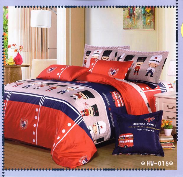 ?臺灣製?舒柔棉磨毛超細纖維床包組《HW-0016》5X6.2尺雙人床包組+兩用被 四件組◤彩虹森林◥