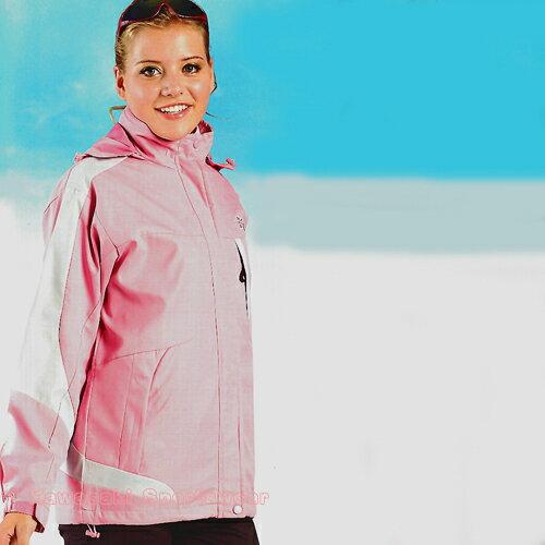 【日本Kawasaki】女版休閒功能性二件式薄裡外套(淺粉)#KW252A - 限時優惠好康折扣