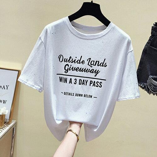 *ORead*亮絲字母印花圓領T恤(3色F碼) 1