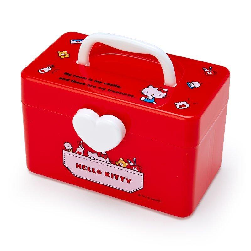 Hello Kitty 收納提箱S,置物櫃/收納櫃/收納盒/抽屜收納盒/收納箱/桌上收納盒,X射線【C473474】
