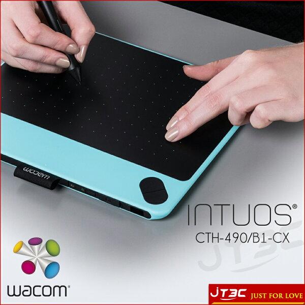JT3C:【最高折$350】WacomIntuosArtPen&Touch(S)CTH-490B0-CX觸控繪圖板-時尚藍(S)