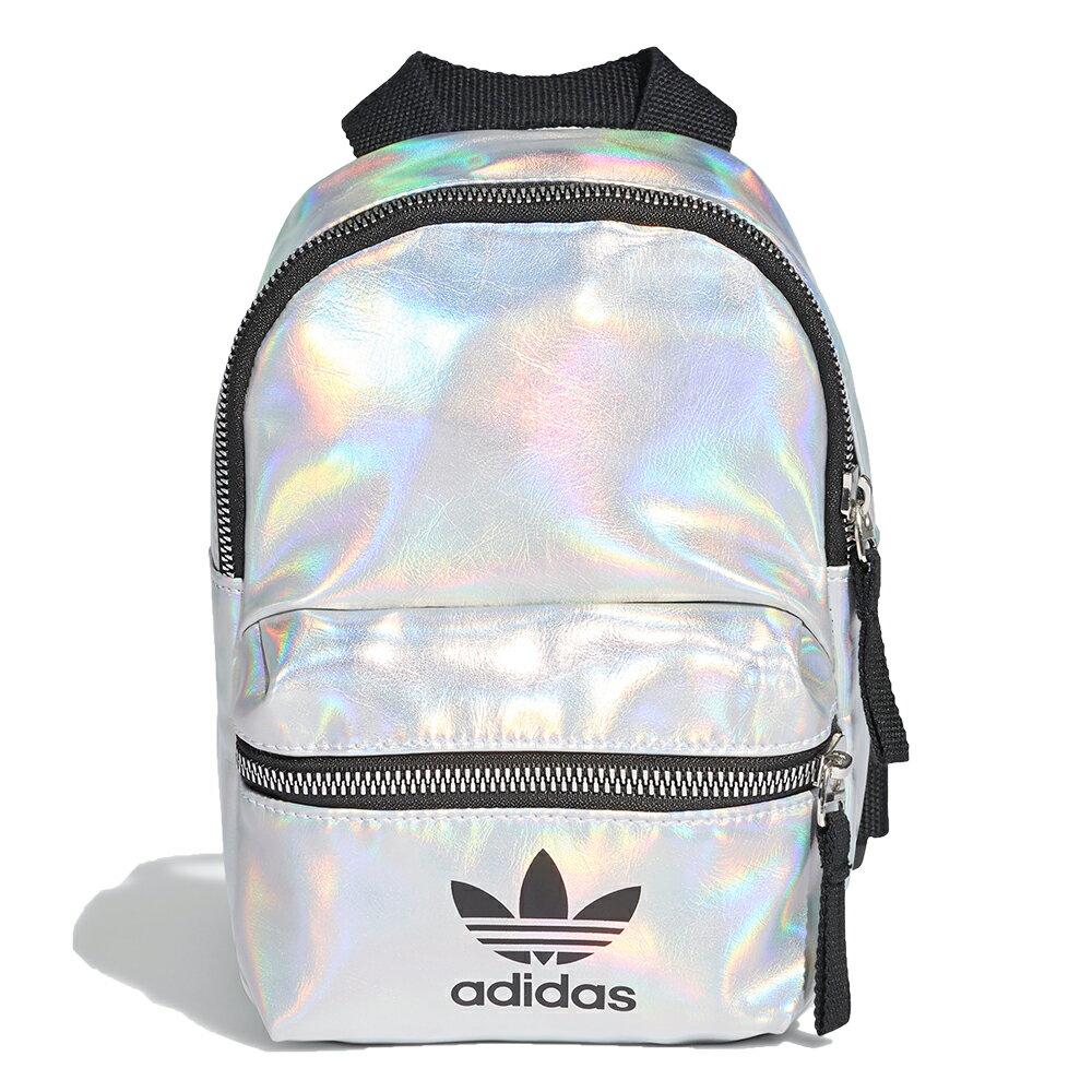 【滿額最高折318】【現貨】ADIDAS MINI BACKPACK 背包 後背包 休閒 潮流 銀 鐳射反光【運動世界】FL9633