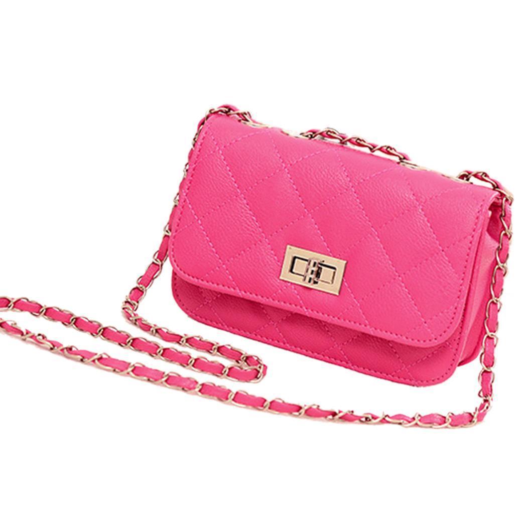 Leather Mini Chain Shoulder Handbag Purse 0