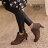 ★399免運★格子舖*【KITW6879】MIT台灣製 嚴選韓版絕美女神 質感皮革 粗跟顯修長反摺裸靴短靴 2色 1