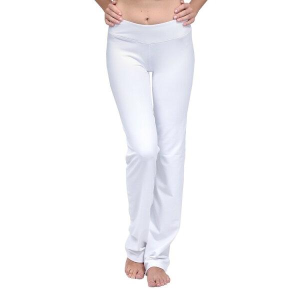 TH3 瑜珈專門店:TH3SPORT體操長褲運動系列白色直向長褲高溫瑜伽服跑步