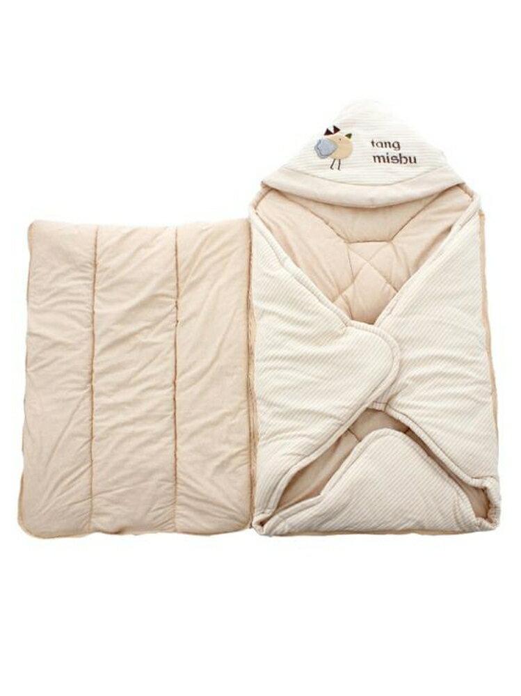 嬰兒抱被 嬰兒抱被睡袋兩用新生兒包被秋冬季加厚純棉襁褓初生外出寶寶抱被 曼慕衣櫃