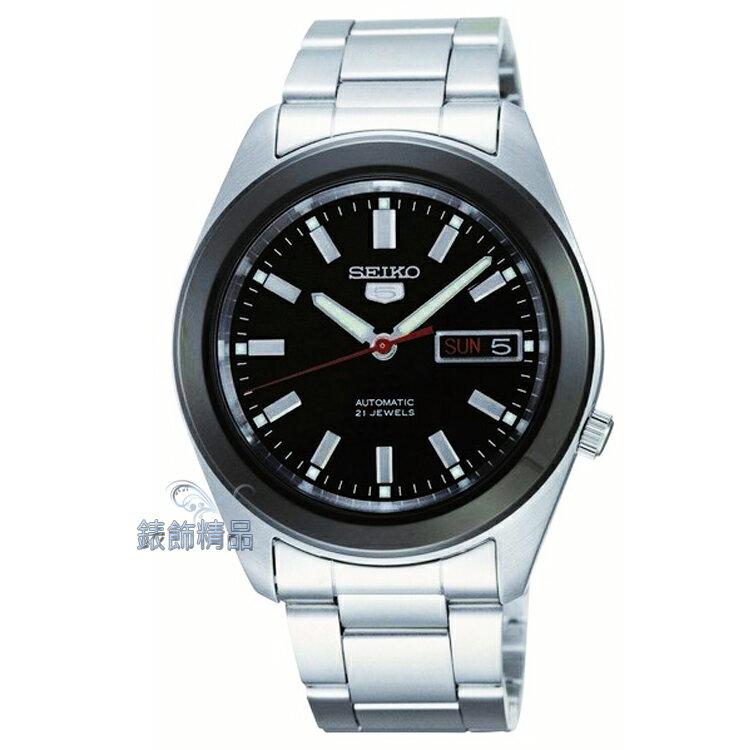 【錶飾精品】SEIKO手錶 SEIKO錶 精工錶 5號自動機械錶 黑面 夜光 星期日期 SNKM69K1 全新原廠正品