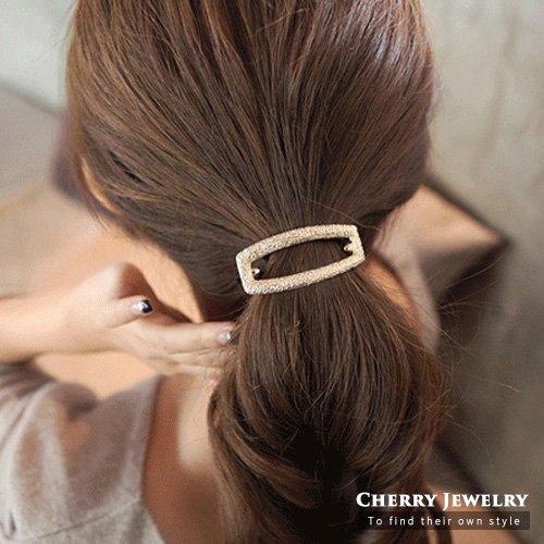 長方形簍空造型髮束10303【櫻桃飾品】【10303】