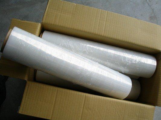 透明棧板膜 工業保鮮膜 PE膜 縮收膜(寬50cmX250m米) / 一箱4大卷入 { 定400 } 工業膠膜 打包膜 包裝束膜 收縮膜(無背膠)~明17*500 A1 3