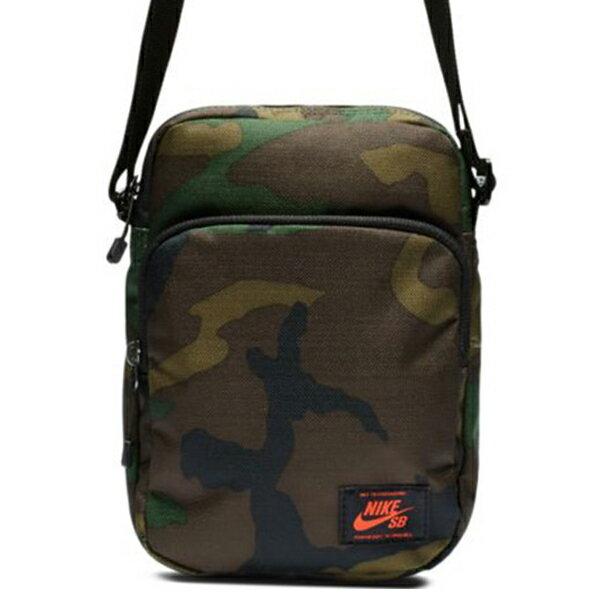 Shoestw【BA5849-210】NIKE SB HERITAGE 側背包 多功能小側背包 出國小包 綠迷彩 紅標