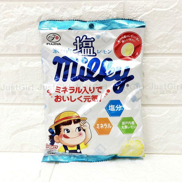 不二家瀨戶內鹽檸檬味牛奶糖檸檬牛奶糖22顆食品日本製造進口JustGirl