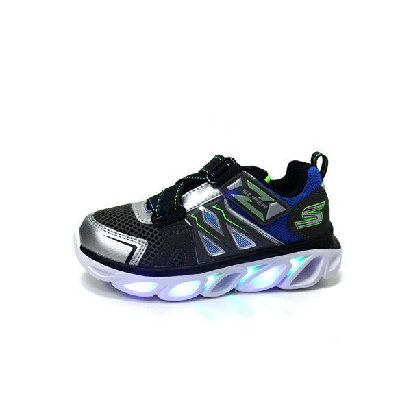SKECHERS  LIGHTS 運動鞋 電燈鞋 童鞋 灰色 90512LSLBL no982 8