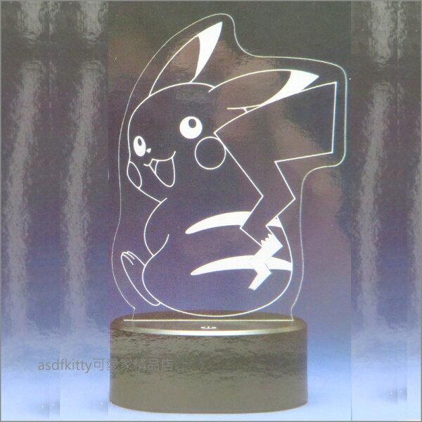 asdfkitty可愛家☆寶可夢神奇寶貝皮卡丘回頭造型LED燈-日本正版商品