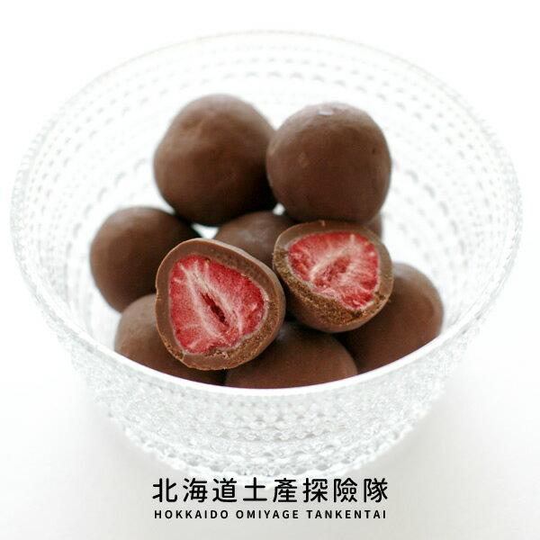 「日本直送美食」[六花亭] 草莓巧克力 (牛奶巧克力/袋裝) ~ 北海道土產探險隊~