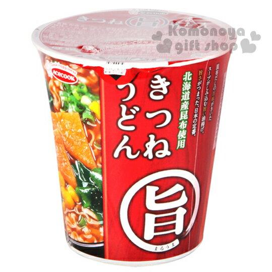 〔小禮堂〕日本原產 豬廚AceCook 旨味 杯麵《64g.湯麵》油豆腐烏龍味