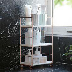 居家家 浴室鍍銅置物架衛浴落地洗漱架 衛生間用品廁所多層收納架CY 全館免運