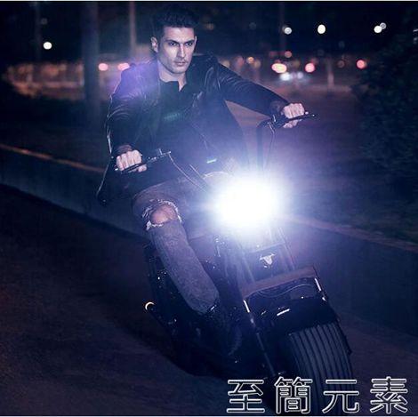 電動車-啟牛X哈雷電瓶車成人雙人大輪胎電動摩托車跑車自行車 聖誕節全館免運
