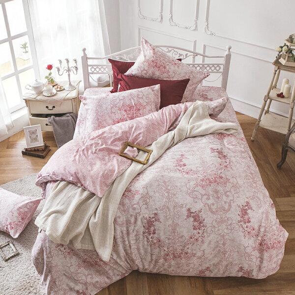 戀家小舖:床包被套組雙人加大-100%精梳棉【靜影愛戀】60支精梳棉,含兩件枕套,戀家小舖,台灣製