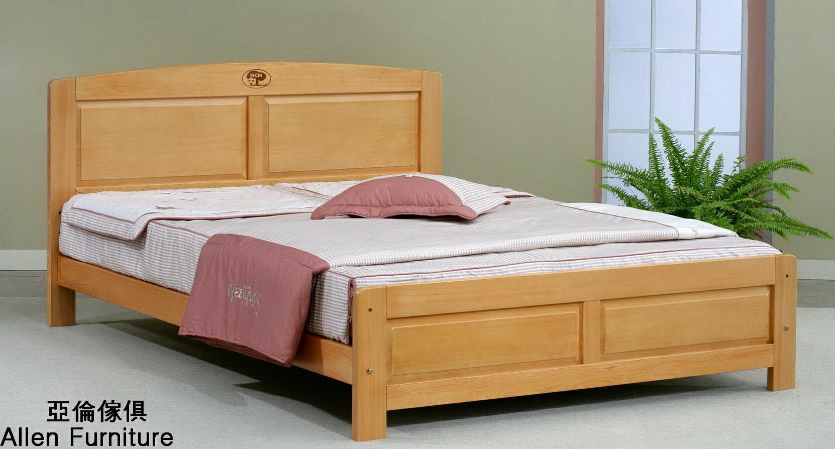 亞倫傢俱*史達琳檜木實木5尺雙人床架 0