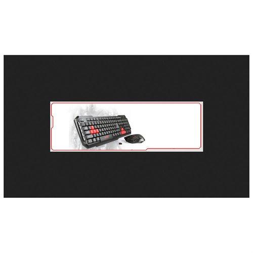 Viotek HAWKPECK 2.4Ghz Wireless Mouse & Keyboard - Retail - USB Wireless RF Keyboard - 104 Key - Red, Black - USB Wireless RF Mouse - Optical - 2000 dpi - 7 Button - Scroll Wheel - Red, Black