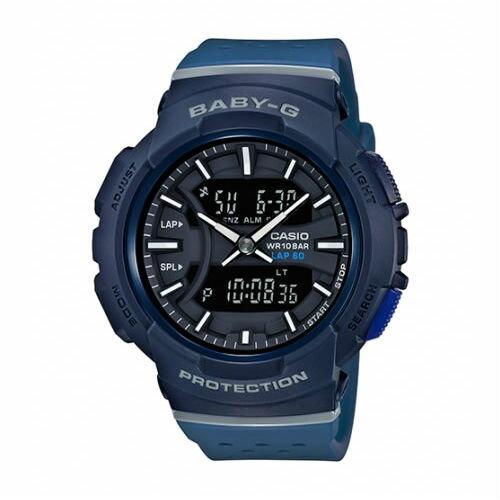 CASIOBABY-GBGA-240-2A1運動服靈感透氣雙顯流行腕錶