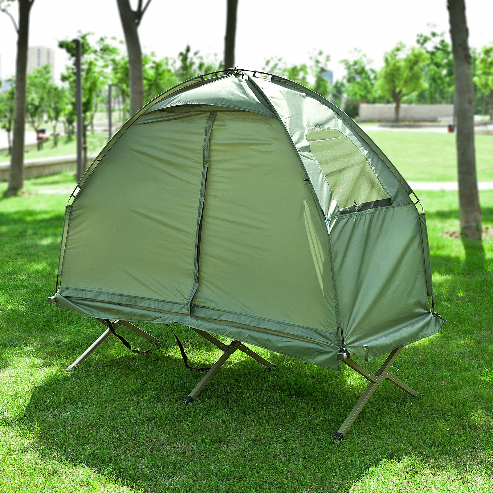 Haotian Compact Collapsable Portable C&ing Cot Air MattressPop-Up Tent Tent & Haotiangroup   Rakuten: Haotian Compact Collapsable Portable ...