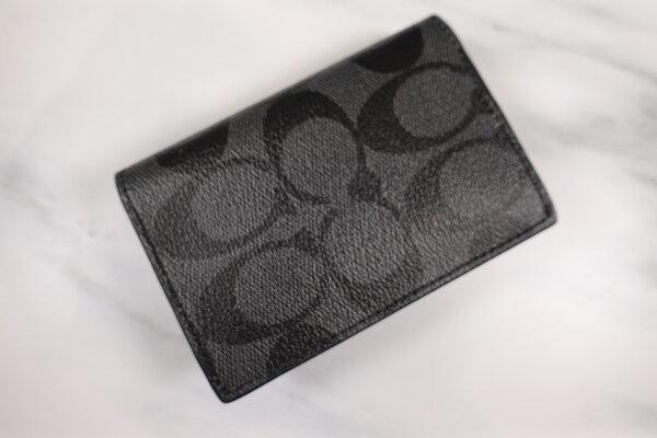 【COACH】經典LOGO素面皮革卡夾名片夾(3色)【全店免運】ARIBOBO艾莉波波
