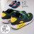 格子舖*【AJ68043】運動男款 休閒舒適氣墊 透氣布繫帶時尚撞色設計 運動鞋 帆布鞋 2色 0