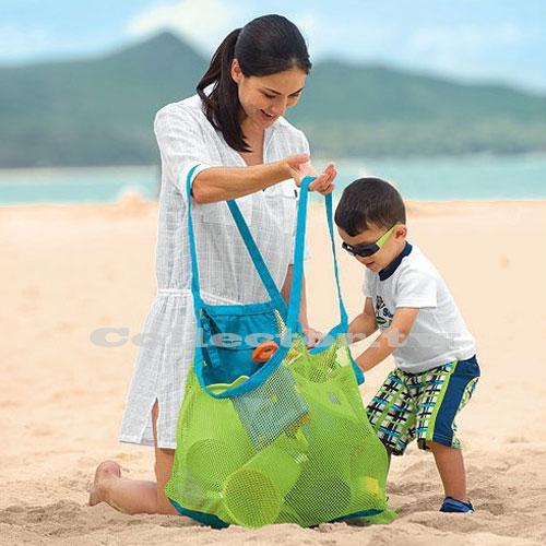 【C17033101】戶外兒童沙灘玩具快速收納袋 挖沙工具雜物收納網袋