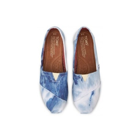 【TOMS】水洗牛仔帆布休閒鞋  Blue Tie-dyed Women's Classics 3