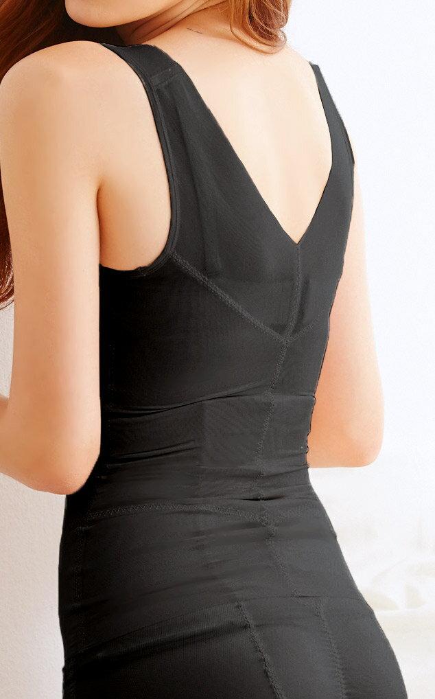 【Emon】420丹 美體無痕機能塑身上衣束衣(黑) 4