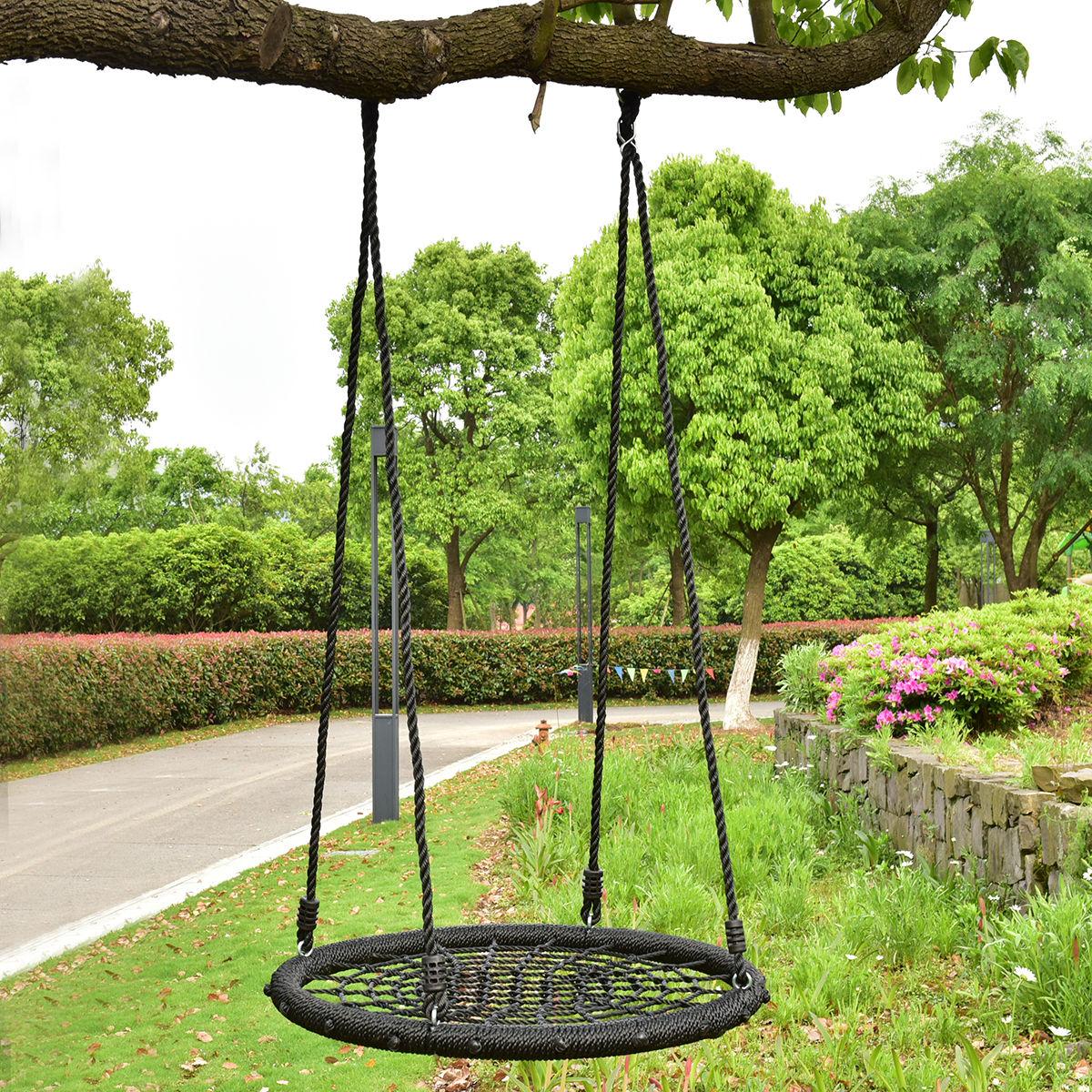 Nice Costway 31.5u0027u0027 Kid Tree Round Swing Net Outdoor Garden Children Toddler  Hanging Rope Nest