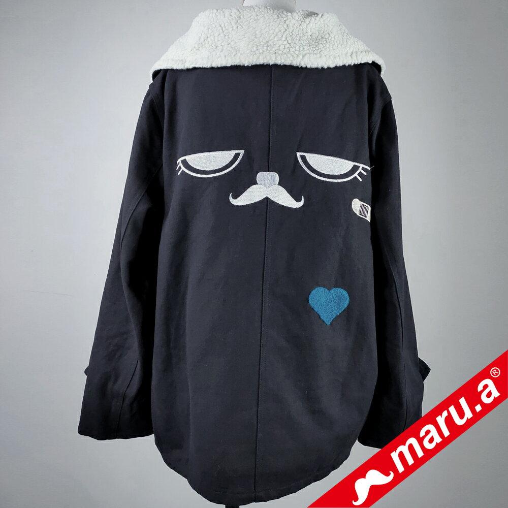 【maru.a】絨毛休閒寬版外套(黑色) ► 618天天領券現折120