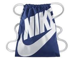 Nike HERITAGE GYMSACK 背包 束口袋 側拉鍊 鞋袋 藍 白 【運動世界】BA5128-411