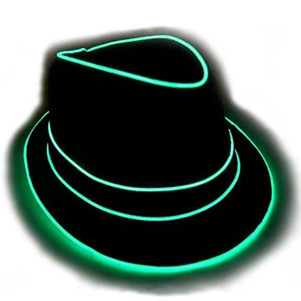 GlowCity  GlowCity EL Wire Light Up Fedora Hat  4a4eb7d7dae