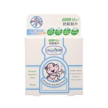 貝恩Baan 嬰兒防蚊貼片25片裝 ( 12小時 ) [橘子藥美麗]