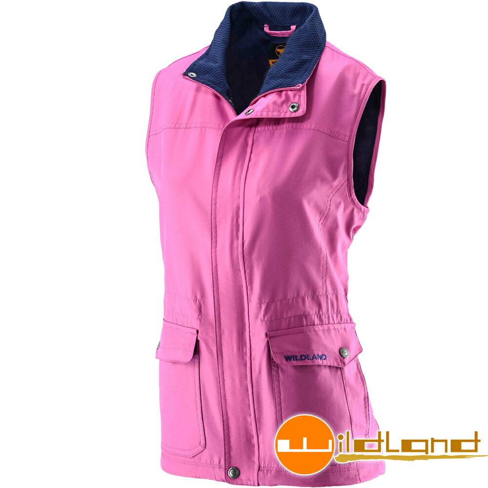 《台南悠活運動家》Wildland 荒野 台灣女防風時尚保暖背心 22703